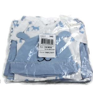 The Children's Place 4-pc Blue Dog Layette Set